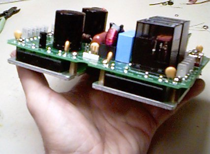 Battery Balancer Power+DC/DC Board, side view