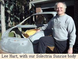 Lee Hart with our         Solectria Sunrise body