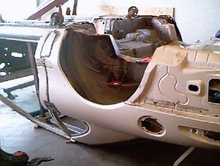 Lincoln body, shortened and upside down for molding