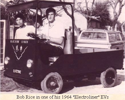 Bob Rice in his 1960's Electroliner EV