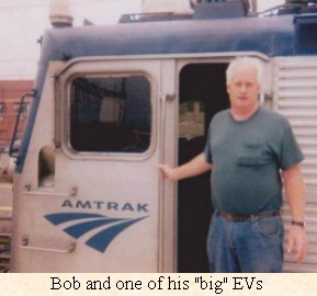 Bob Rice at his locomotive