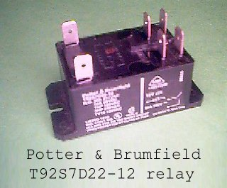 Potter and Brumfield T92S7D22-12 relay